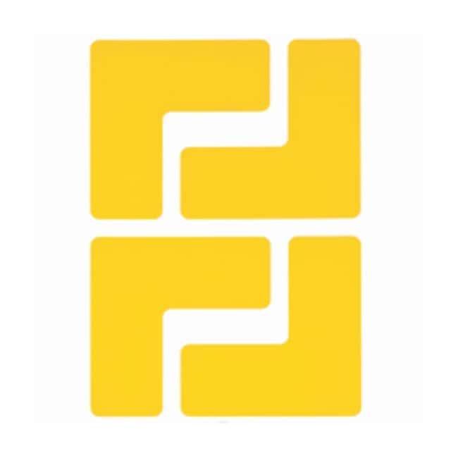 "Brady™ToughStripe™ Floor Marking Corner Marks ToughStripe Floor Marking Corner Marks; Yellow; Size: 2 x 5 in.; Shape: ""L"" Brady™ToughStripe™ Floor Marking Corner Marks"