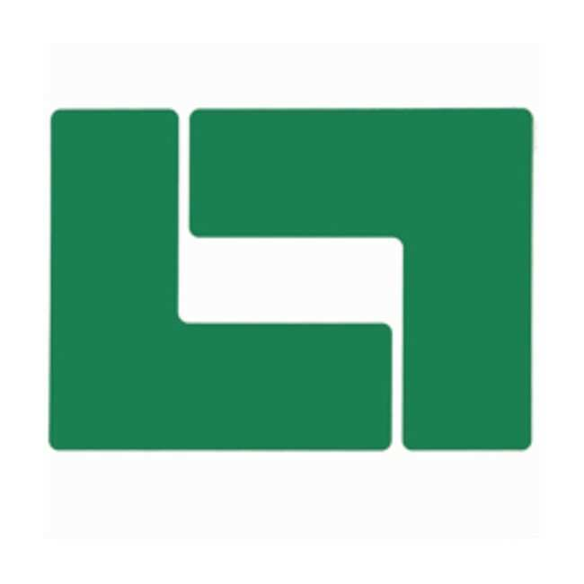 "Brady™ToughStripe™ Floor Marking Corner Marks ToughStripe Floor Marking Corner Marks; Green; Size: 3 x 8 in.; Shape: ""L"" Brady™ToughStripe™ Floor Marking Corner Marks"