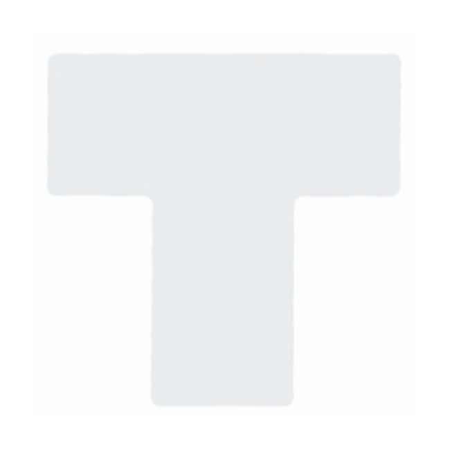 """Brady™Marques de division pour marquage au sol ToughStripe™ Marques de diviseur de marquage au sol ToughStripe; Blanc; Taille: 4x10po; Forme: """"T"""" Brady™Marques de division pour marquage au sol ToughStripe™"""