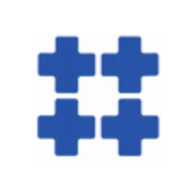 Brady™ToughStripe™ Floor Marking Center Marks Center Marks (Cross); 3 x 8 in.; Blue Brady™ToughStripe™ Floor Marking Center Marks