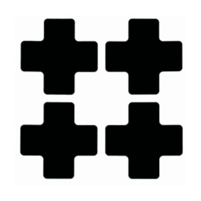 Brady™ToughStripe™ Floor Marking Center Marks Center Marks (Cross); 4 x 10 in.; Black Brady™ToughStripe™ Floor Marking Center Marks