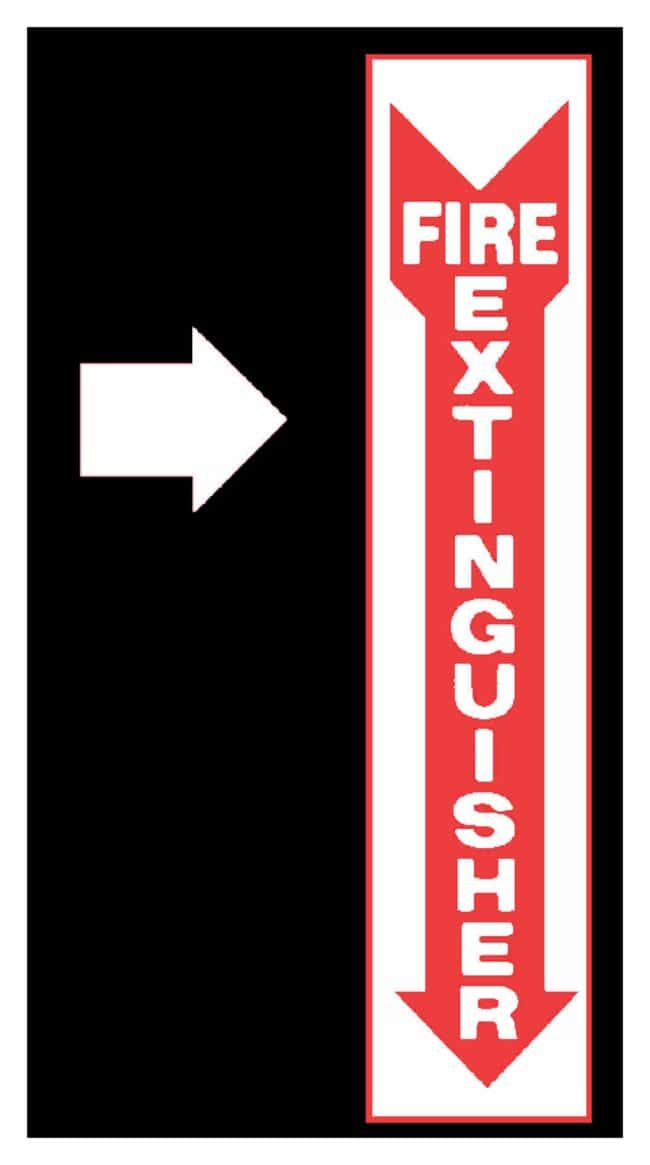 National MarkerRigid Plastic Glow-in-the Dark Signs:Facility Safety and