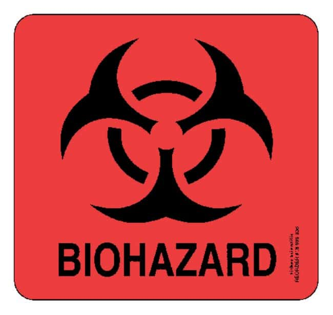 Fisherbrand Large Biohazard Labels :Gloves, Glasses and Safety:Facility