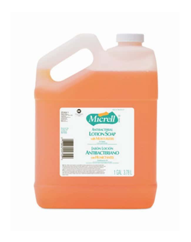 GOJO MICRELL Antibacterial Lotion Soaps Pourable 3.8L (1 gal.) bottle;