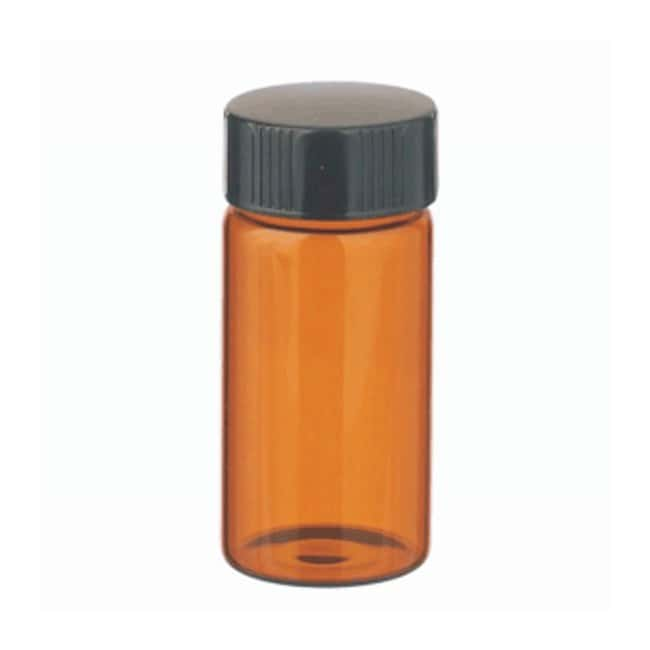 DWK Life SciencesWheaton™ Glass Sample Vials in Lab File With Caps Attached With caps; 20mL; Amber; PTFE/14B Rubber; 24-400; 28 x 60mm DWK Life SciencesWheaton™ Glass Sample Vials in Lab File With Caps Attached