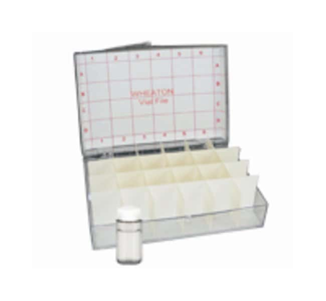 DWK Life Sciences Wheaton™ M-T Vial File™ and Accessories Vial file; Holds up to twenty four 20mL vials DWK Life Sciences Wheaton™ M-T Vial File™ and Accessories