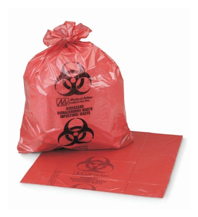 MedegenBiohazardous Waste Bags, LLDPE Film, Coreless Roll LLDPE; Coreless