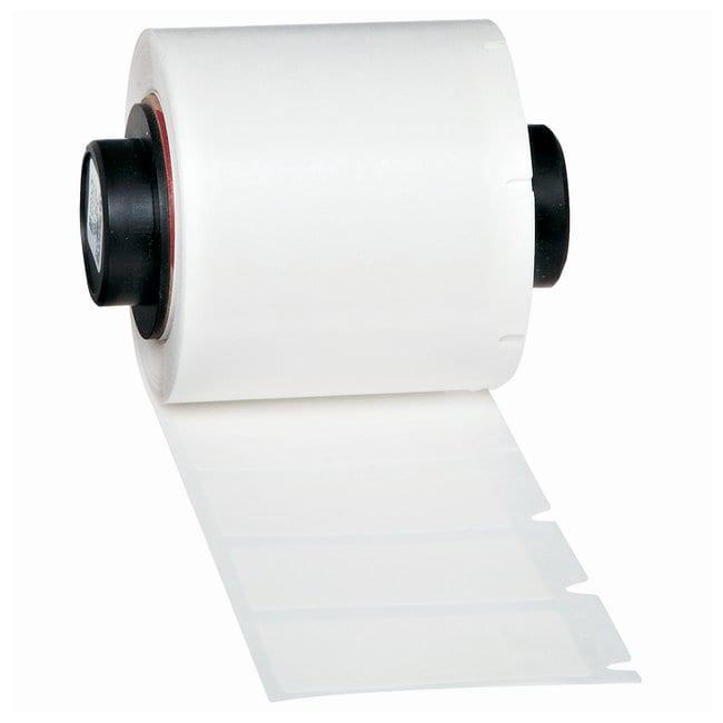 Brady™ed etichette per uso generico TLS-PC Link™ Vinyl; White with transparent topcoat; Size: 1.5 x 0.75 in. Brady™ed etichette per uso generico TLS-PC Link™