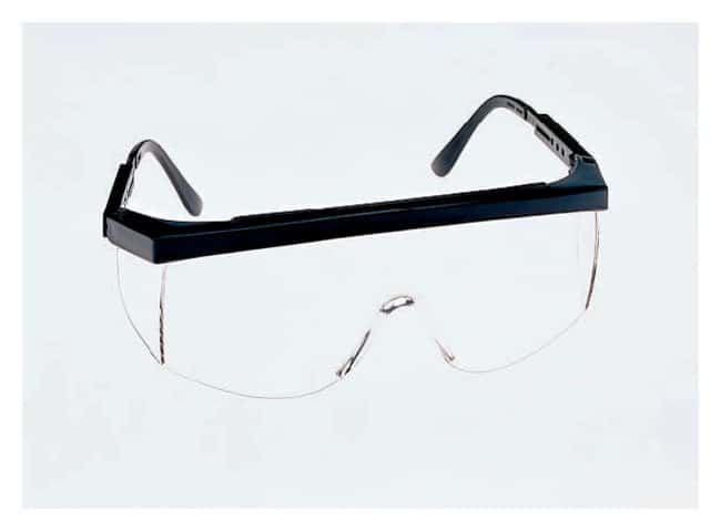 MCR Safety Crews Tomahawk Safety Glasses Lens tint: clear; Nylon red, white,