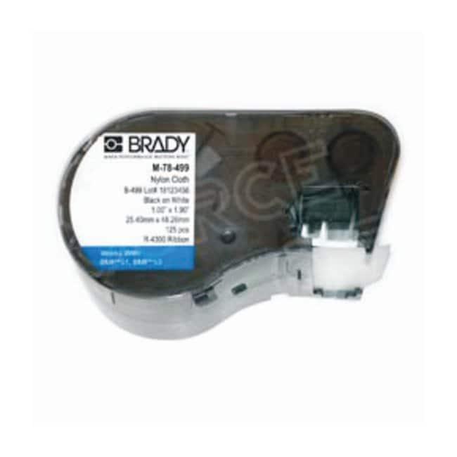 BradyLABXPERT Nylon Cloth Labels X-78-499; Nylon cloth; 1 in. W x 1.9 in.