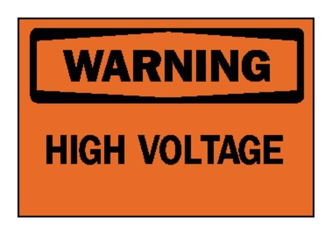 Brady™Electrical Hazard Signs: WARNING - HIGH VOLTAGE