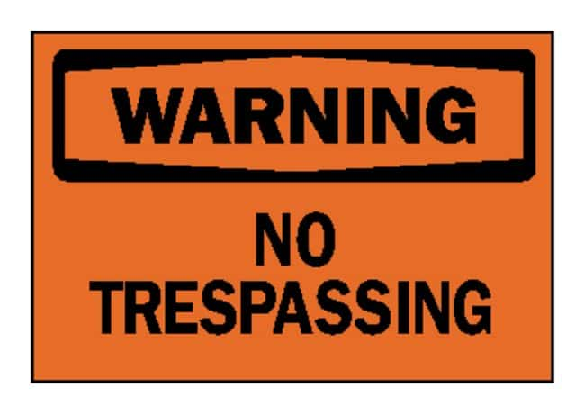 "image regarding Printable No Trespassing Sign titled Bradyâ""¢ \u201cWarning: No Tresping\u201d Symptoms"