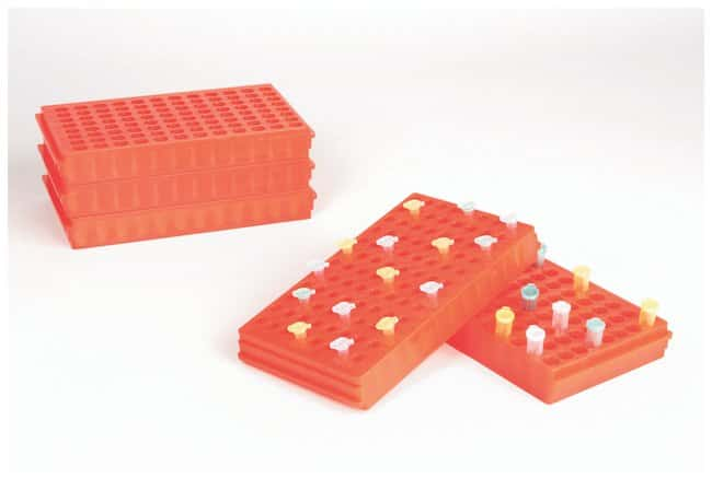 Fisherbrand Microcentrifuge Tube Racks Color: Orange:Racks, Boxes, Labeling