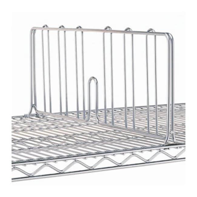 Metro™Super Adjustable Super Erecta™ Wire Shelving Accessory, 8in. Shelf Dividers Plated; Shelf width: 18 in. (45.7cm) Metro™Super Adjustable Super Erecta™ Wire Shelving Accessory, 8in. Shelf Dividers