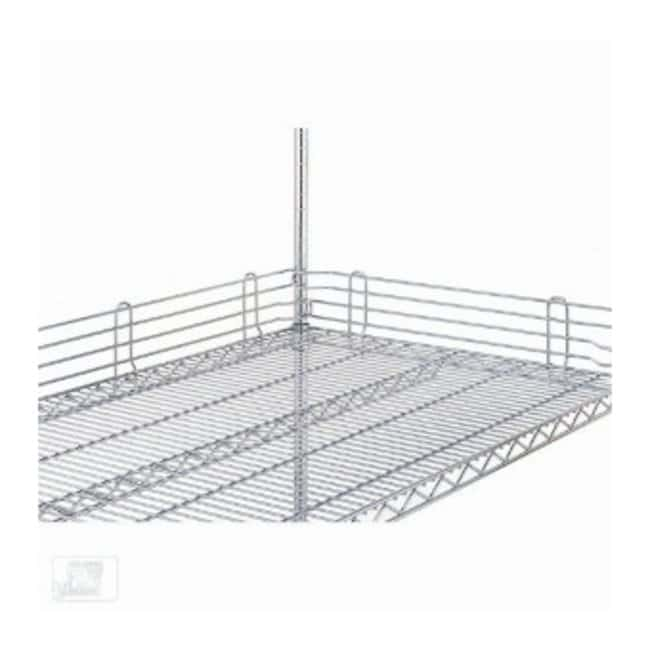 Metro™Super Erecta™ Wire Shelving Accessory, Shelf Ledge, Stackable Finish: Stainless steel; Height: 4 in. (10cm); Length: 36 in. (91.4cm) Metro™Super Erecta™ Wire Shelving Accessory, Shelf Ledge, Stackable