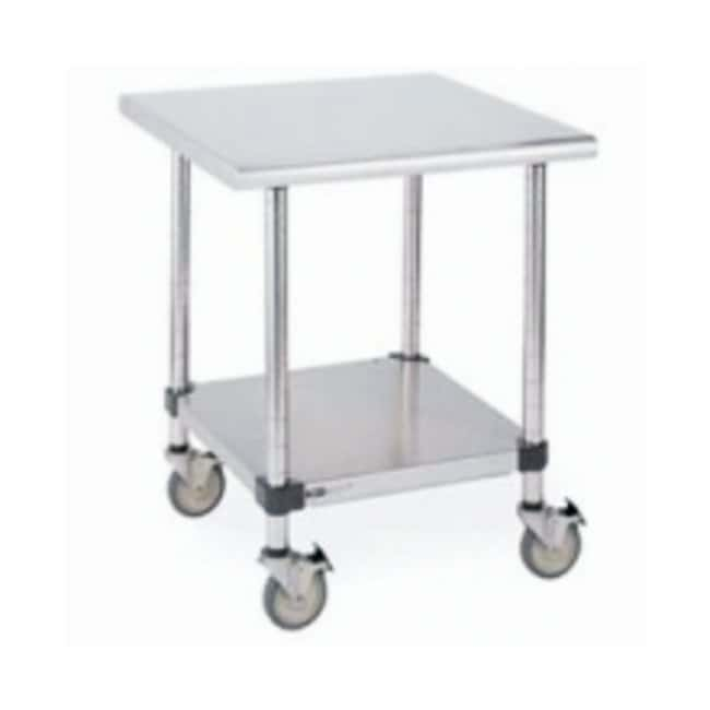 Metro™ Stainless Lab Worktable, Stainless Island Top and Solid HD Shelf