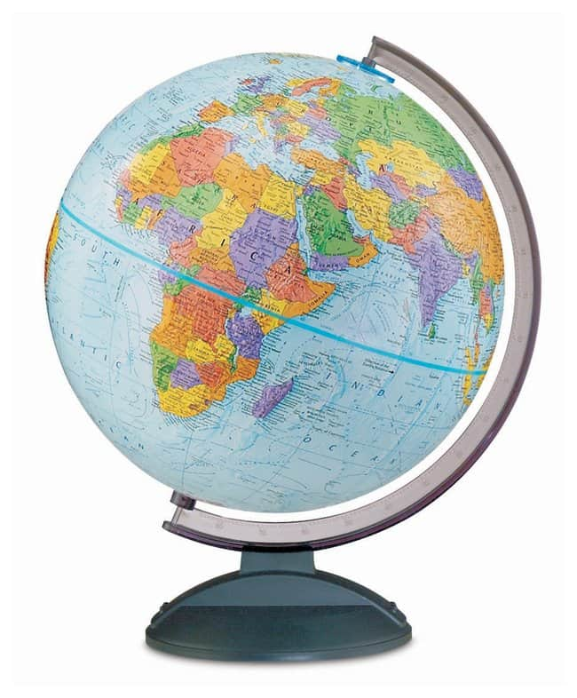 Replogle Globes Traveler Political Globe Type Height 15 In Teaching