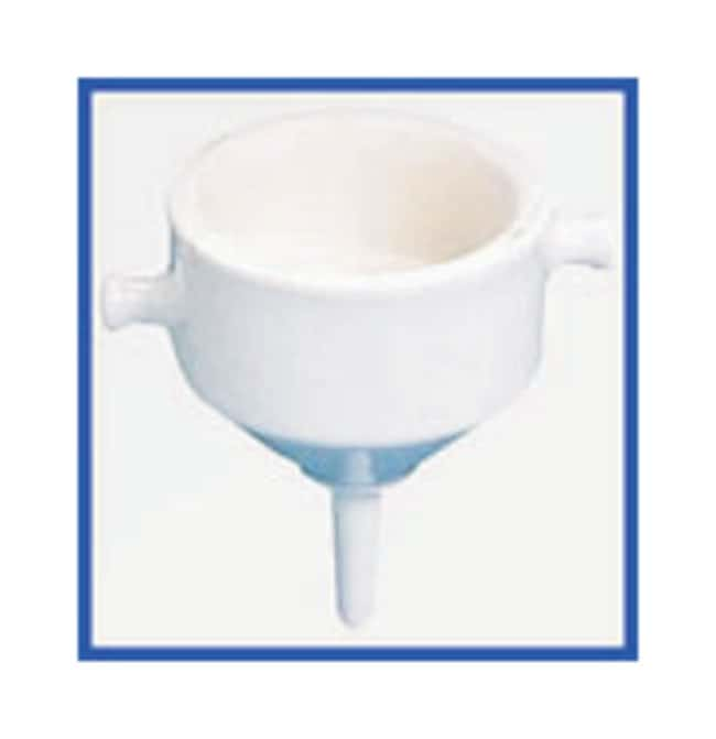CoorsTek Porcelain Bchner Funnels with Double Wall, Fixed Perforated Plate