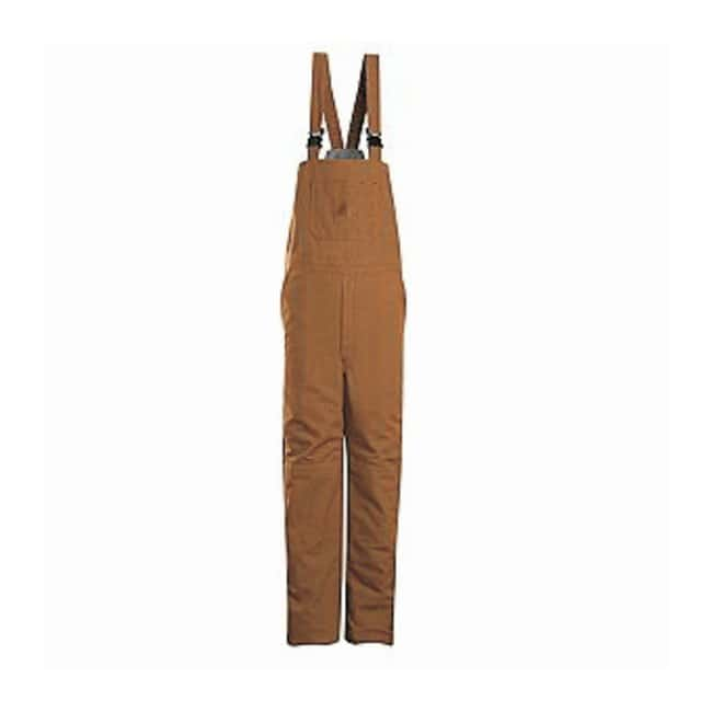 VF Workwear Bulwark Brown Duck Insulated Bib Overall Regular; Size: X-Large:Gloves,