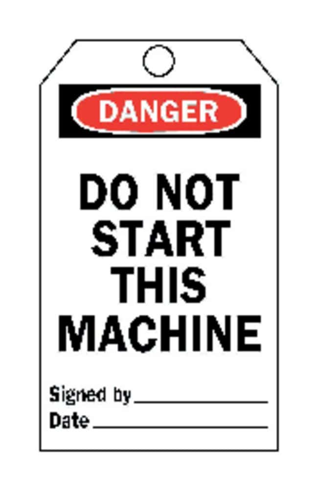 Brady Do Not Start / Do Not Start This Machine Tags:Gloves, Glasses and