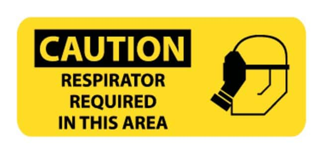 National MarkerRespirators Required in This Area Signs 7 X 17 in.; Rigid
