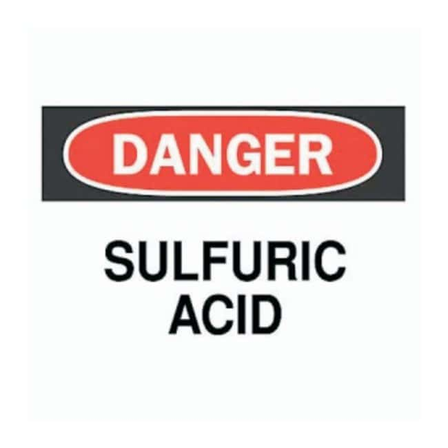 Brady™ Chemical and Hazardous Materials Signs: Sulfuric Acid