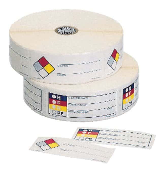 Fisherbrand HMIG and NFR Write-On Labels, Hazardous Materials Identification