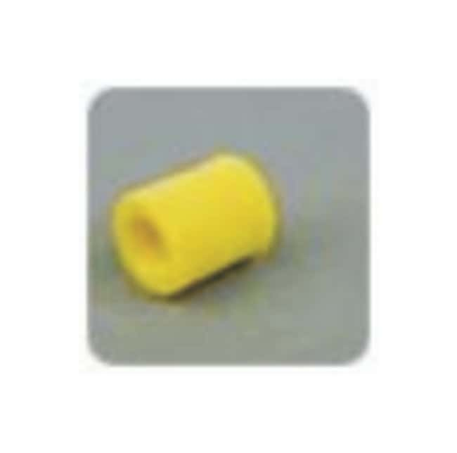 Idex Threaded Plugs and Caps Cap; Tefzel (ETFE); Color: Yellow:Chromatography