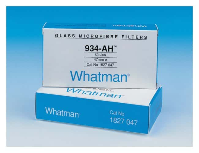 GE Healthcare Whatman™ Binder-Free Glass Microfiber Filters, Grade 934-AH Circles: Cleaning and Filtration Supplies Soil Testing and Analysis