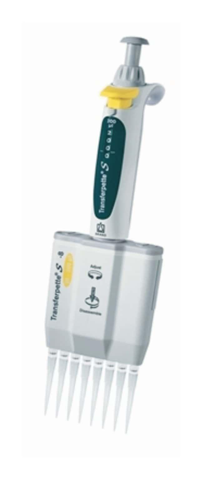 BRAND™Micropipeta multicanal Transferpette™ S Vol.: 20 to 200μL; 8 channel pipet BRAND™Micropipeta multicanal Transferpette™ S