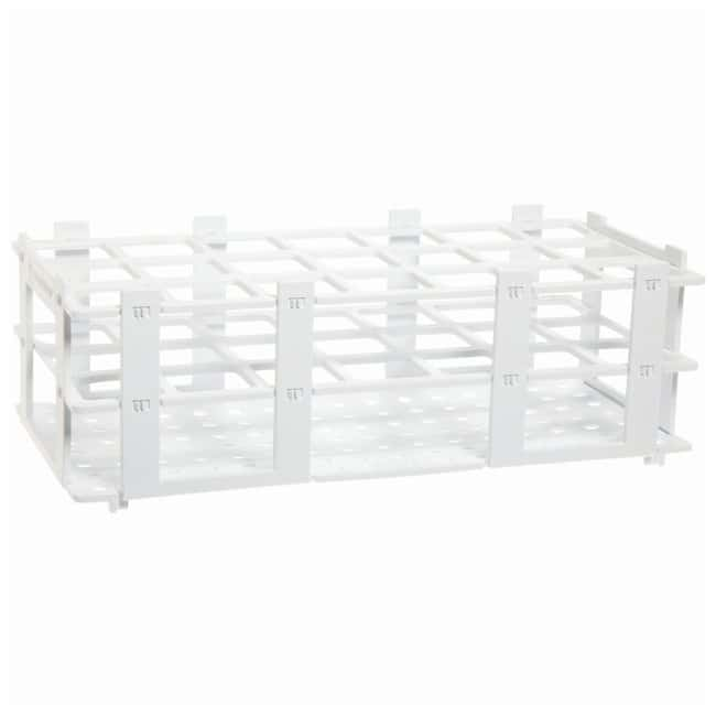 BRAND™ Polypropylene Test Tube Racks For 30mm (1.2in.) tubes; White BRAND™ Polypropylene Test Tube Racks