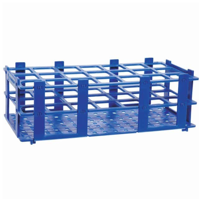 BRAND™ Polypropylene Test Tube Racks For 30mm (1.2in.) tubes; Blue BRAND™ Polypropylene Test Tube Racks