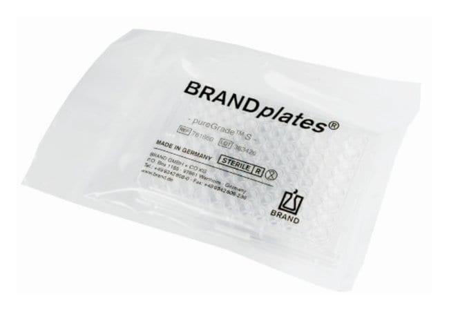 BRAND&trade;&nbsp;BRAND<i>plates</i>&trade; pureGrade&trade; S 96-well Microplates Well volume: 330&mu;L; Clear; Standard U-bottom BRAND&trade;&nbsp;BRAND<i>plates</i>&trade; pureGrade&trade; S 96-well Microplates