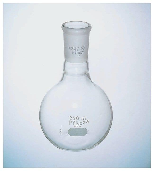 PYREXShort Neck Flat Bottom Flasks, Standard Taper Joint:Flasks:Boiling