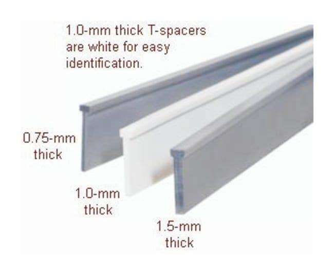 Hoefer™SE 260 Vertical Electrophoresis Unit Accessory, T-Spacers T spacers; PVC grey; 10.5cm long; 1.5mm thick; 2/Pk. Hoefer™SE 260 Vertical Electrophoresis Unit Accessory, T-Spacers