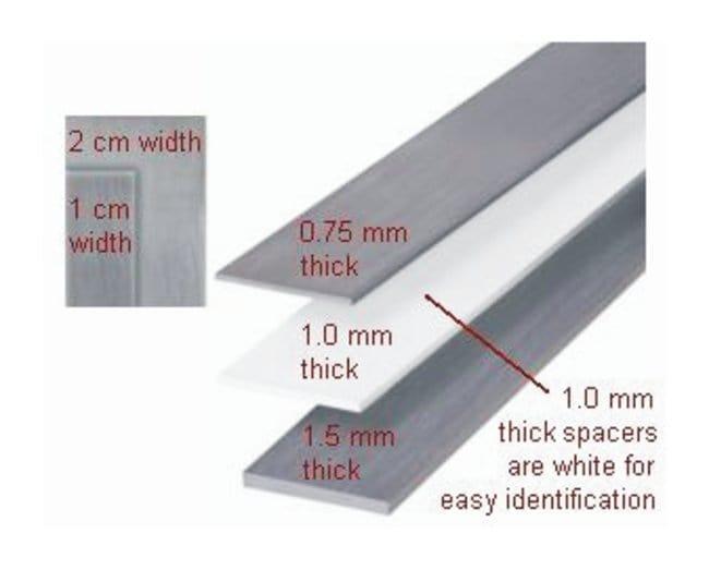 Hoefer™Spacers for SE 600 Chroma, SE 600 Standard, or SE 400 Vertical Electrophoresis Units Spacer; 1cm x 16cm x 1.0mm; 2/Pk. Hoefer™Spacers for SE 600 Chroma, SE 600 Standard, or SE 400 Vertical Electrophoresis Units