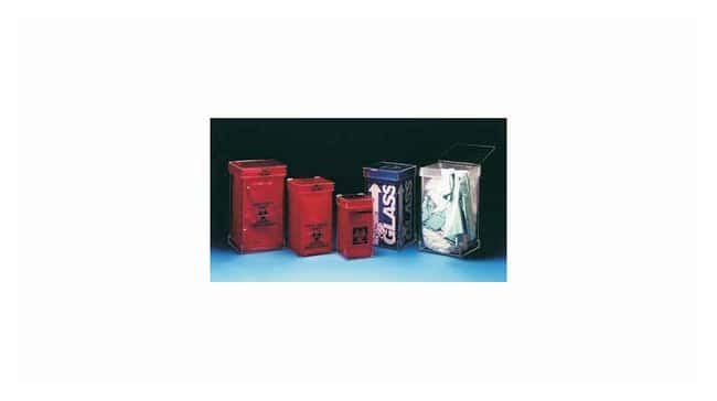 Mitchell Plastics Biohazard Benchtop Waste Containers:Gloves, Glasses and