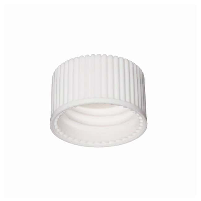 DWK Life SciencesWheaton™ White Polypropylene Open-Top Caps w/PTFE Faced Silicone Liners for E-Z Ex-Traction™ Vials Fits 8mL vials; Cap size: 15mm-425; 1000/Cs. Products