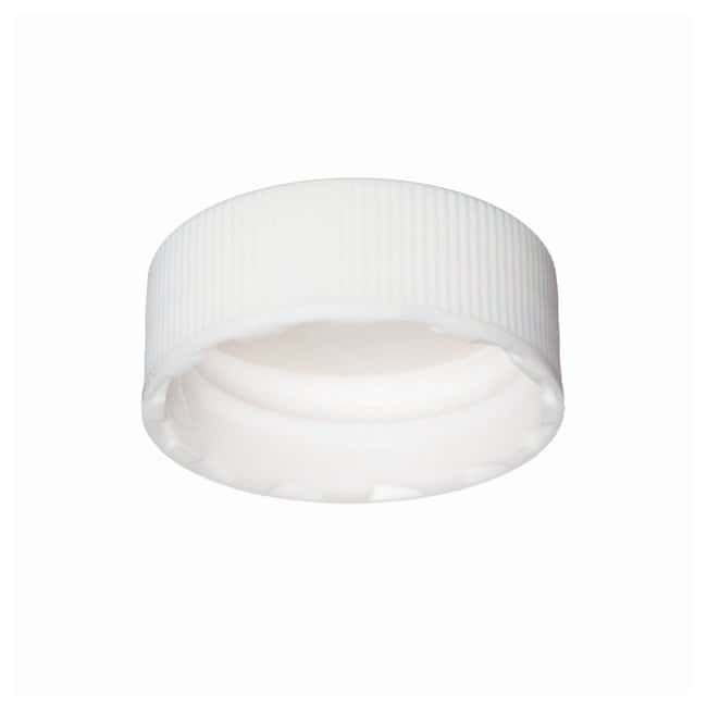 DWK Life SciencesWheaton™ White Polypropylene Open-Top Caps w/PTFE Faced Silicone Liners for E-Z Ex-Traction™ Vials Fits 10mL vials; Cap size: 22mm-400; 500/Cs. Products