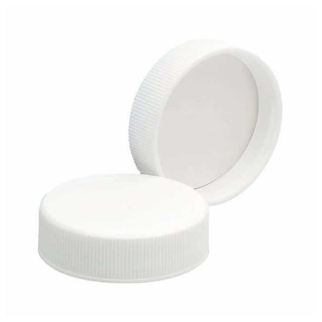 DWK Life Sciences Wheaton™ White Polypropylene Caps with PTFE-Faced Foamed Polyethylene Liners 38-400 cap finish Products