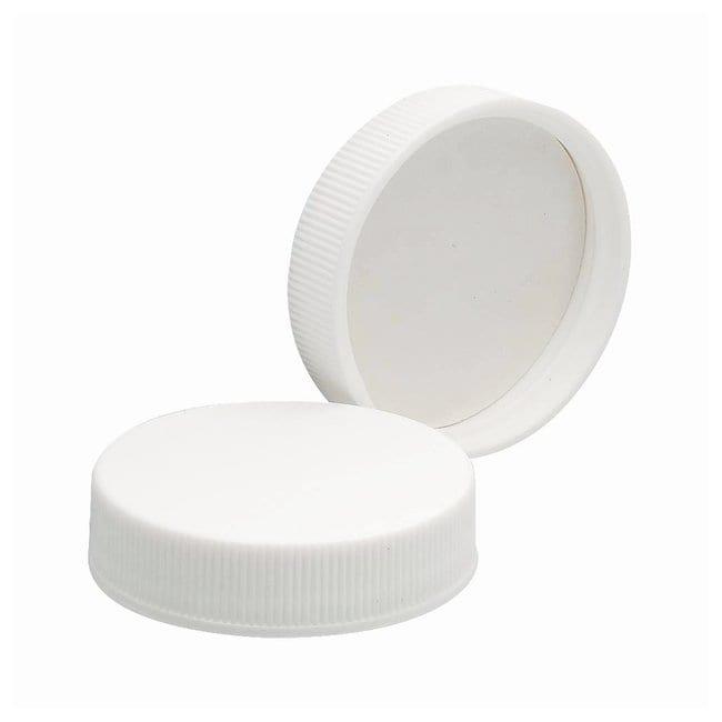 DWK Life SciencesTapones de polipropileno blancos con revestimientos de espuma de polivinilo Cap size: 43mm-400 DWK Life SciencesTapones de polipropileno blancos con revestimientos de espuma de polivinilo