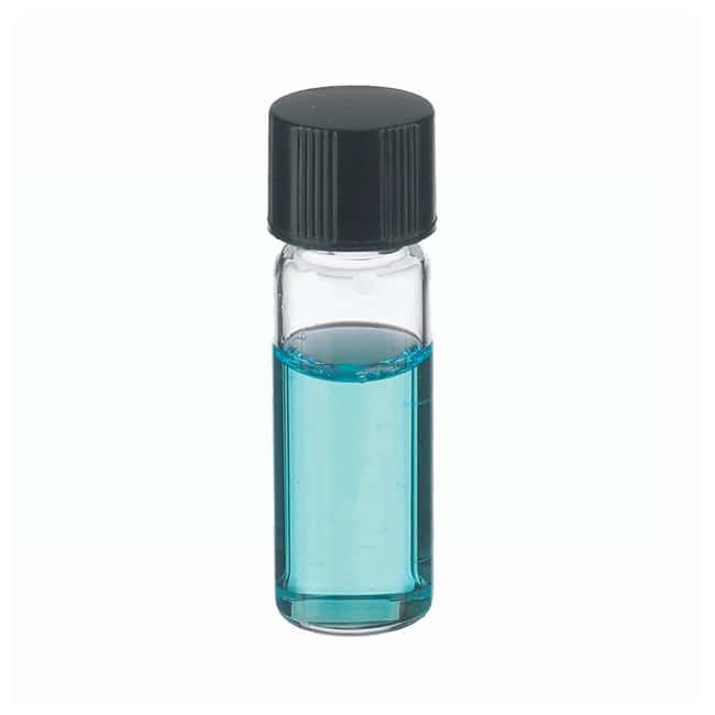 DWK Life Sciences Wheaton™ Clear Glass Sample Vials in Lab File With Caps Attached With caps; 2mL; Clear; 14B Rubber; 8-425; 12 x 38mm DWK Life Sciences Wheaton™ Clear Glass Sample Vials in Lab File With Caps Attached