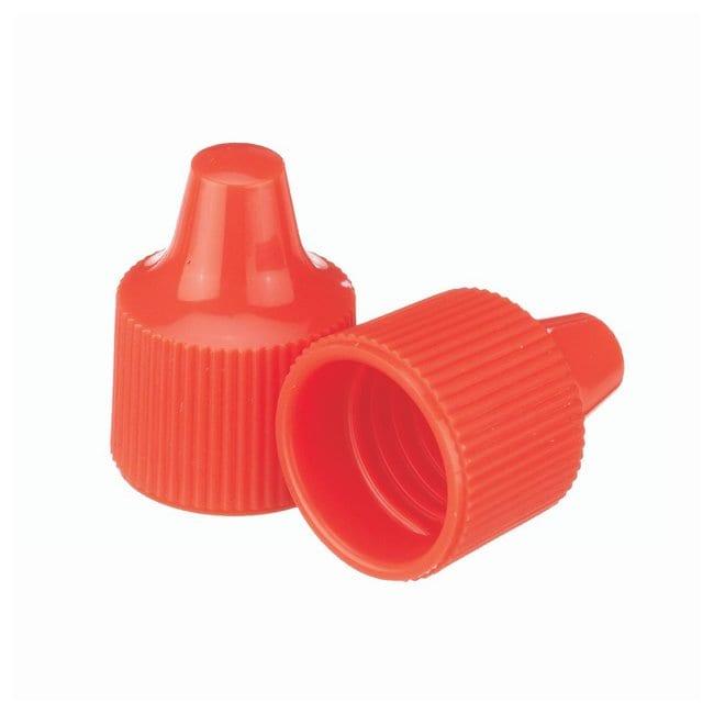 DWK Life Sciences Wheaton  Polypropylene Caps for Wheaton Dropping Bottles - Orange