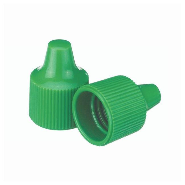 DWK Life SciencesWheaton™ Polypropylene Caps For Wheaton Dropping Bottles - Green Screw cap size: 15-415; 100/Cs. Products