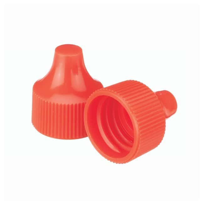 DWK Life Sciences Wheaton  Polypropylene Caps for Wheaton Dropping Bottles - Orange