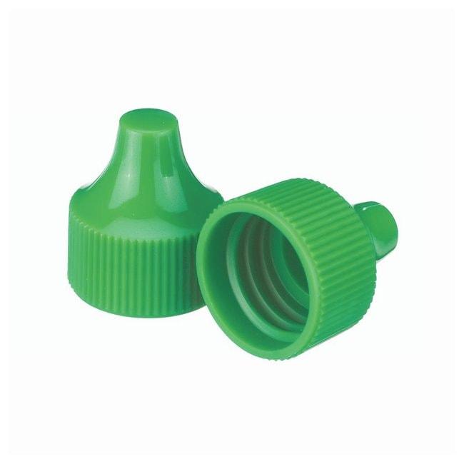 DWK Life Sciences Wheaton  Polypropylene Caps For Wheaton Dropping Bottles - Green