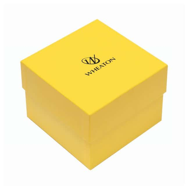 DWK Life SciencesWheaton™ CryoFile™ and CryoFile XL™ Storage Boxes For 3,4 and 5mL vials; Yellow; 130L × 130W × 97mm H DWK Life SciencesWheaton™ CryoFile™ and CryoFile XL™ Storage Boxes
