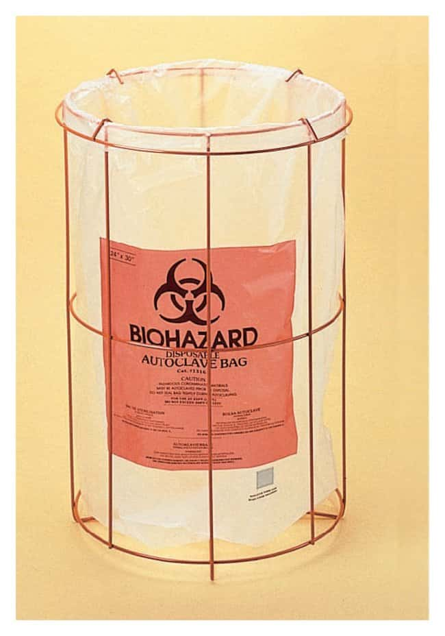 Bel-Art Poxygrid Biohazard Bag Holders  Accepts 24 x 36 in. bags:Gloves,