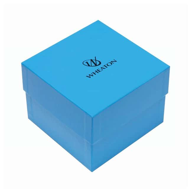 DWK Life SciencesWheaton™ CryoFile™ and CryoFile XL™ Storage Boxes For 3,4 and 5mL vials; Blue; 130L × 130W × 97mm H DWK Life SciencesWheaton™ CryoFile™ and CryoFile XL™ Storage Boxes