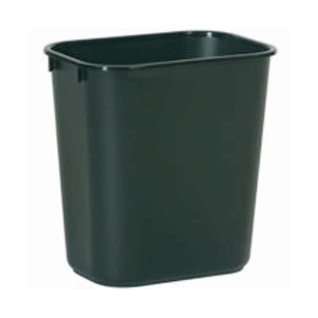 Rubbermaid Deskside Wastebaskets and Tops Black; Small:Gloves, Glasses